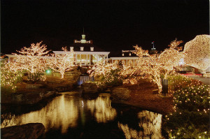 Opryland lights at Christmas time