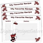 Anyone LOVE ladybugs? Here is a FREE recipe card for you to download!