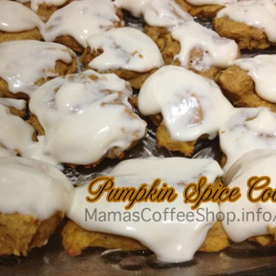 Pumpkin Spice Cookies with Cream Cheese Icing