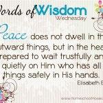 Peace ~ Words of Wisdom