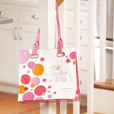 {50% off SALE} Daughter of the King – Oil Cloth Tote from DaySpring