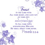 FREE Printable of Proverbs 3:5-6