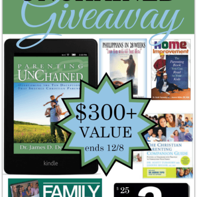 Parenting Unchained Giveaway {Over a $300 Value}