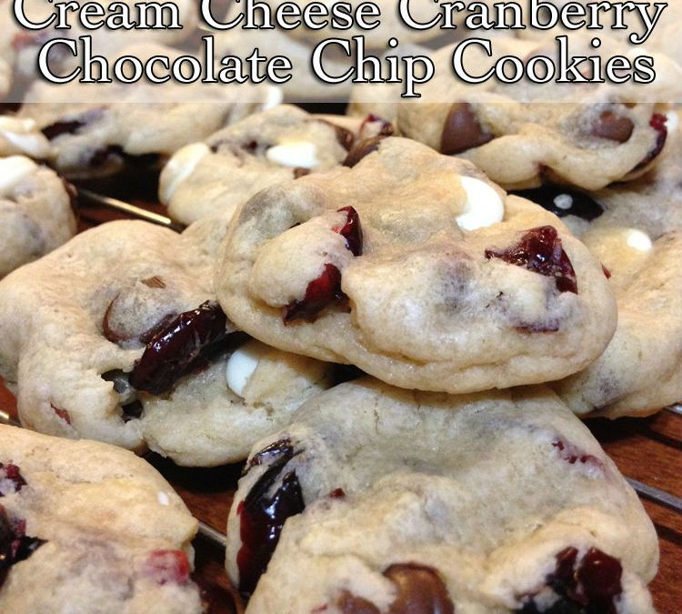 Cream Cheese Cranberry Chocolate Chip Cookies {Recipe}