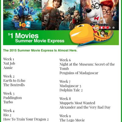 Regal Entertainment Group Summer Movie Express {$1 Summer Movies for 2015}