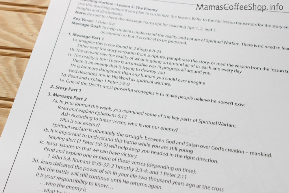 Mamas Coffee Shop | Teen Prasso Teaching Book - Bible Curriculum