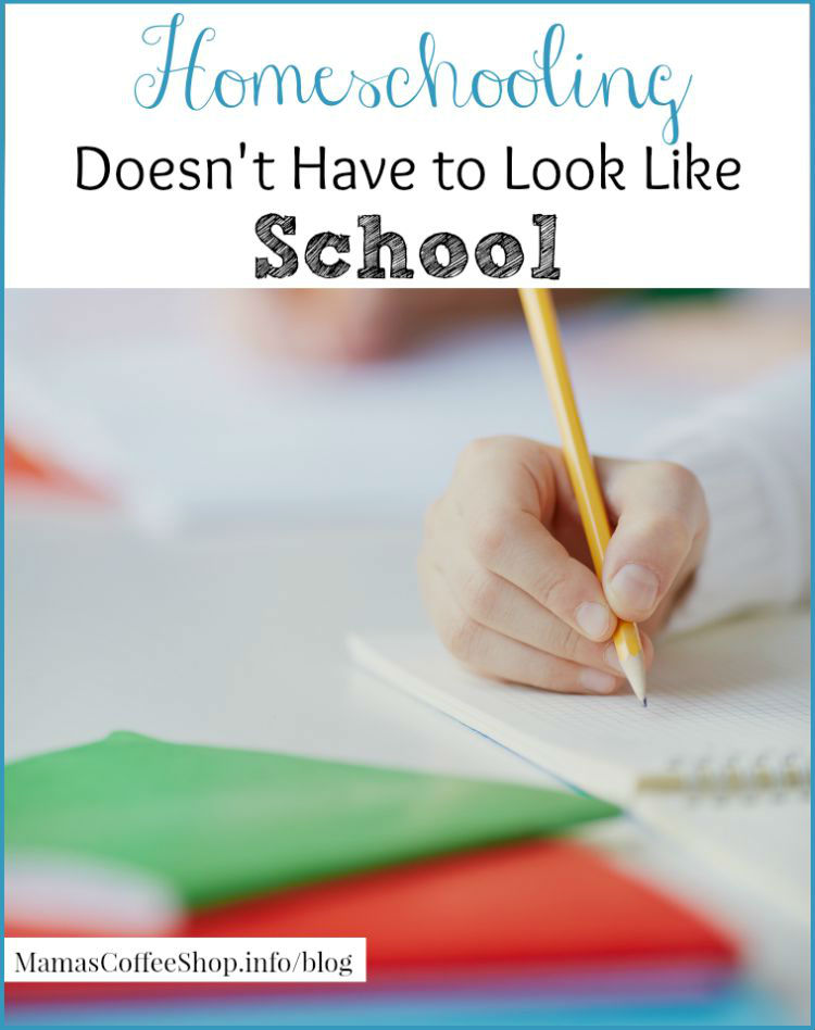 Mamas Coffee Shop - Homeschooling Doesn't Have to Look Like School - Back to Homeschool Blog Hop