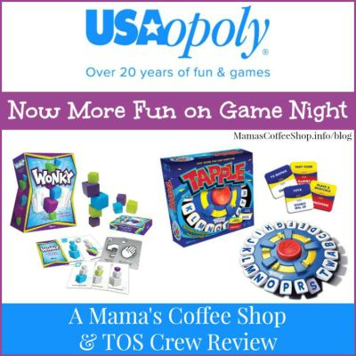 {Product Review} Wonky and Tapple from USAopoly – Family Game Night Fun