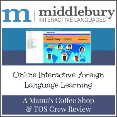 {Product Review} Elementary French: Grades 3-5 (Semester 2) from Middlebury Interactive Languages (Online Foreign Language Class)