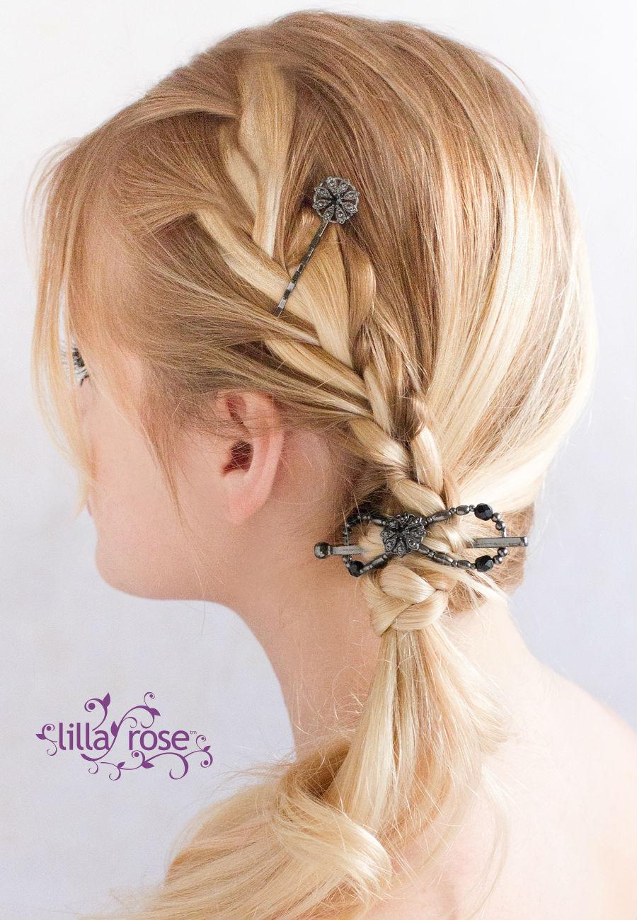 Lilla Rose Floral Design Black Nickel