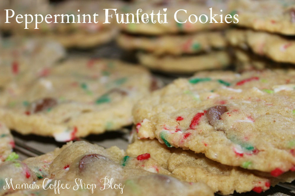 Delicious Christmas Peppermint Funfetti Cookies