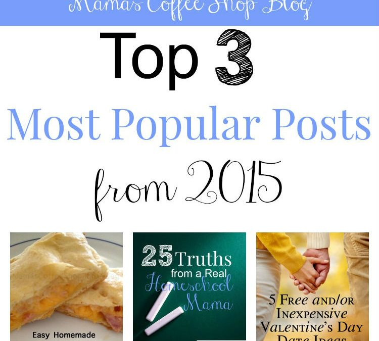 Top 3 Most Popular Posts from 2015
