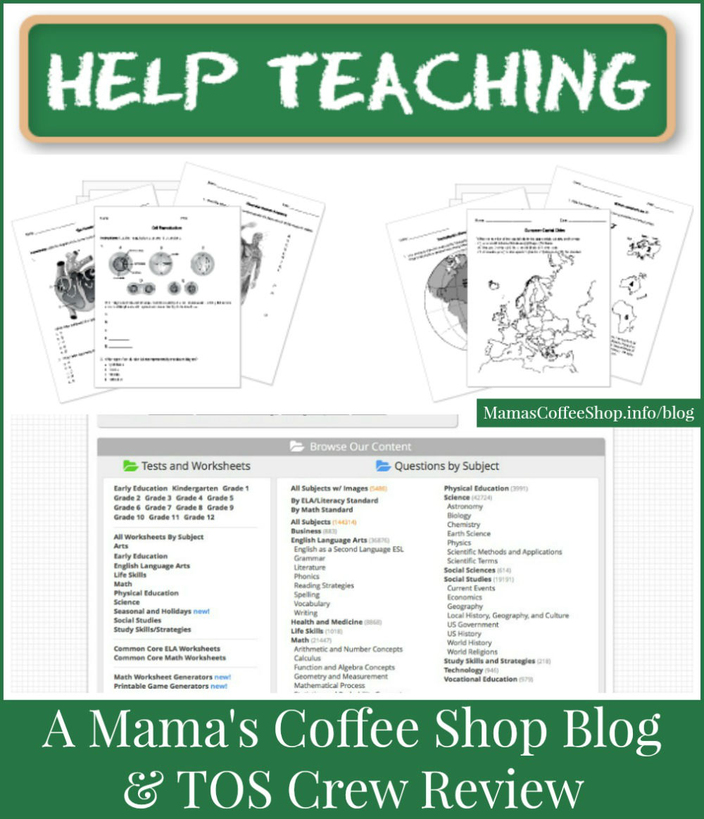 Mama's Coffee Shop Blog - HelpTeaching