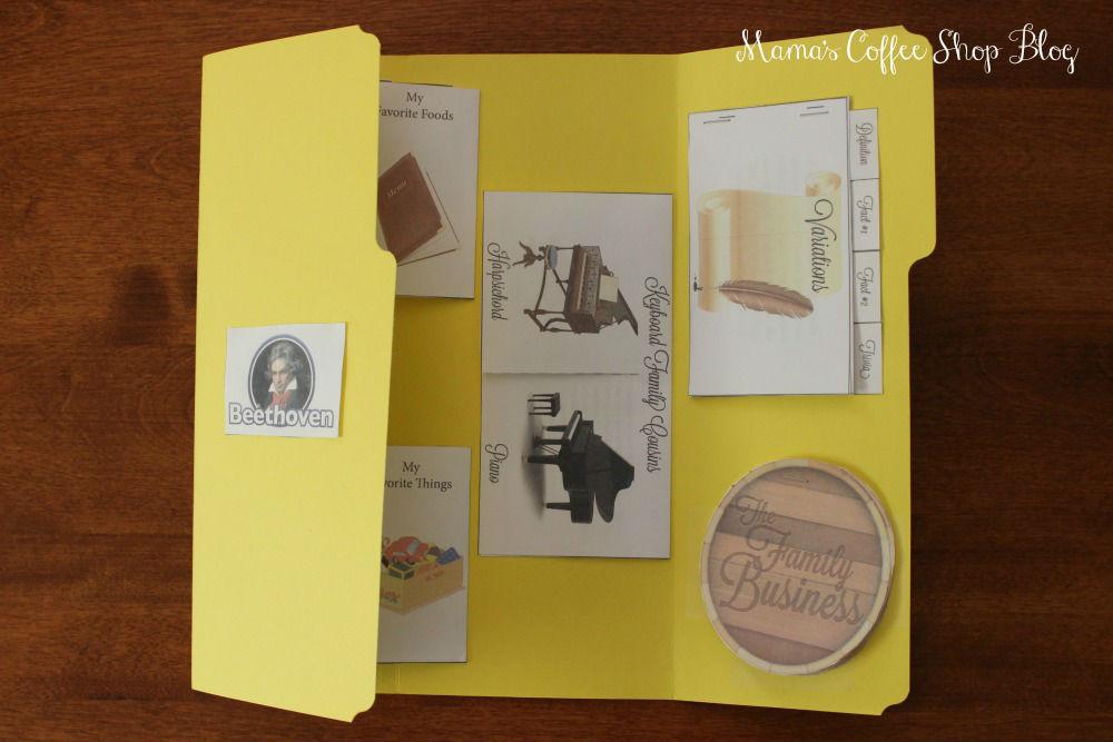 Mama's Coffee Shop Blog - Zeezok Beethoven Lapbook
