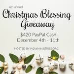Christmas Blessing 2017 Giveaway