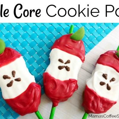 Apple Core Cookie Pops