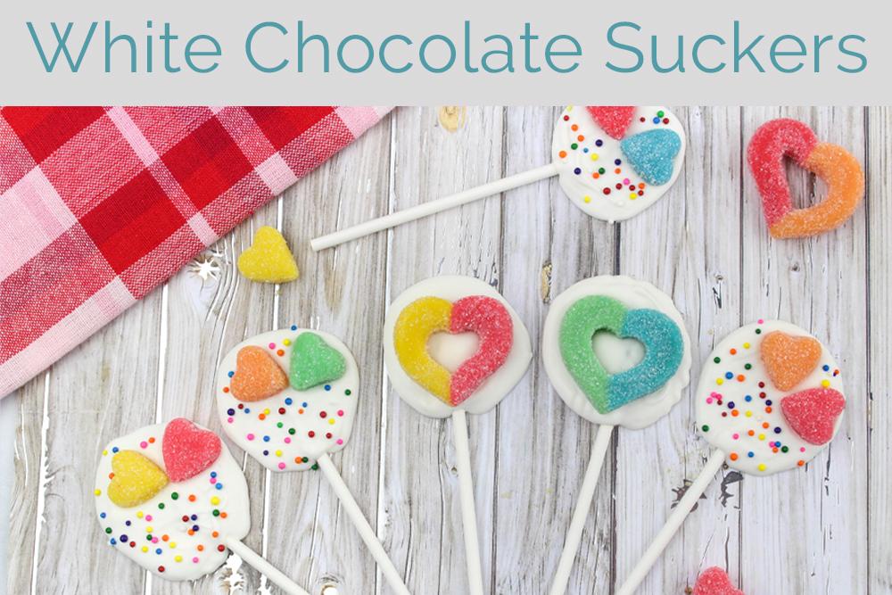Valentine's Day White Chocolate Suckers