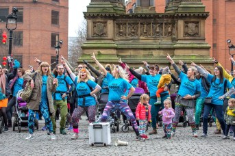 Mamas Collective at Mother Pukka Flex Appeal flashmob