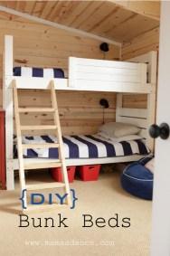 DIY bunk bed sign