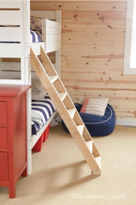 diy bunk ladder