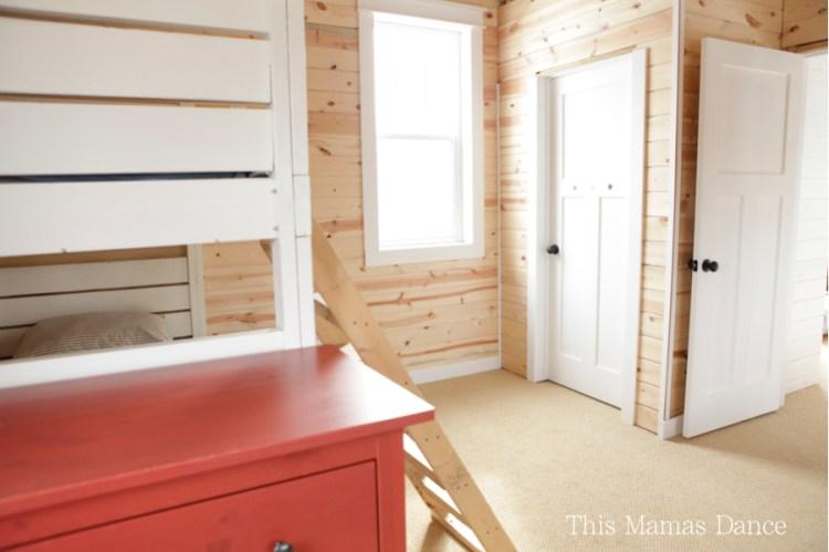 pine walls white trim