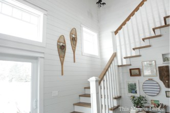snowshoes on the wall