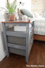 grey wicker drawer