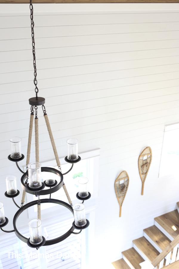 nautical rope chandelier