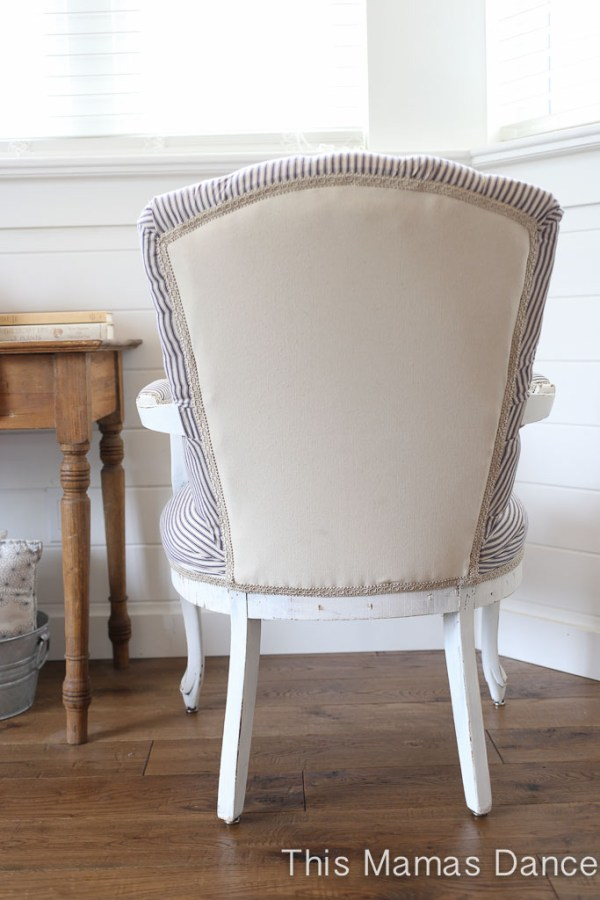 Chair Back, Gimp Trim 2-1