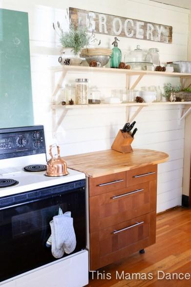 open shelves farmhouse kitchen-8