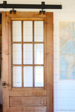 antique barn door, reclaimed track