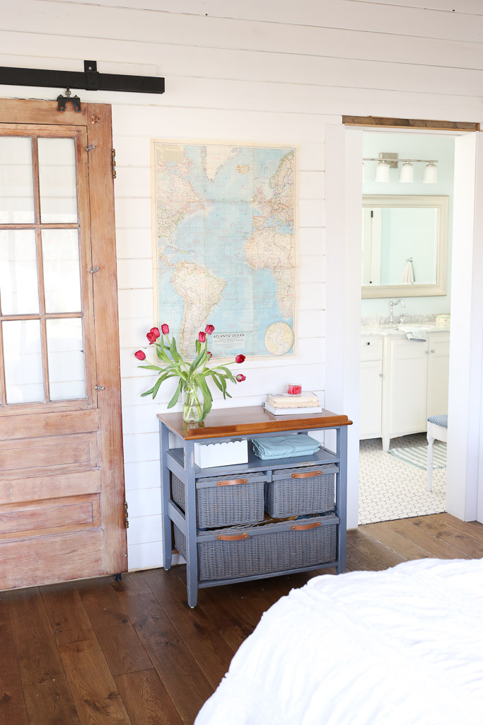 Antique Barn Door aged with Miss Mustard Seed White Wax-4 - Third Times A Charm {Our Antique Barn Door Is Complete!} - This