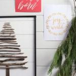 DIY Twig Tree, faux shiplap| This Mamas Dance-5