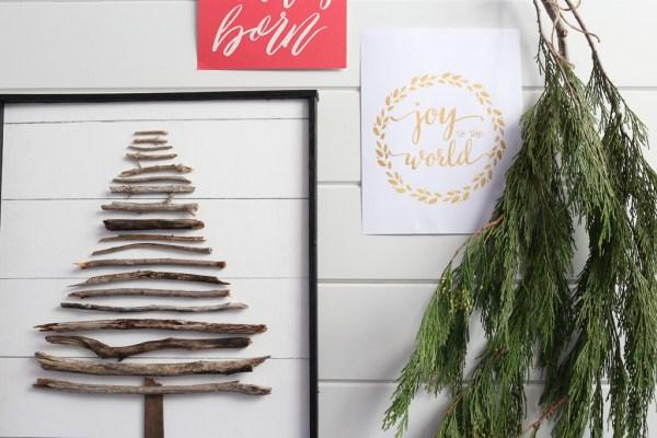 DIY Twig Tree, faux shiplap  This Mamas Dance-5