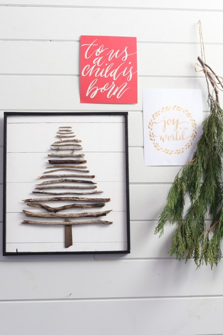 DIY Twig Tree, faux shiplap  This Mamas Dance-6
