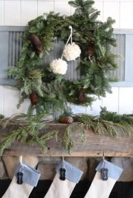 Fresh Wreath, yarn Pom Poms-2