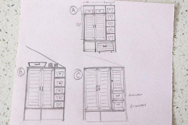 mudroom built in sketch-1