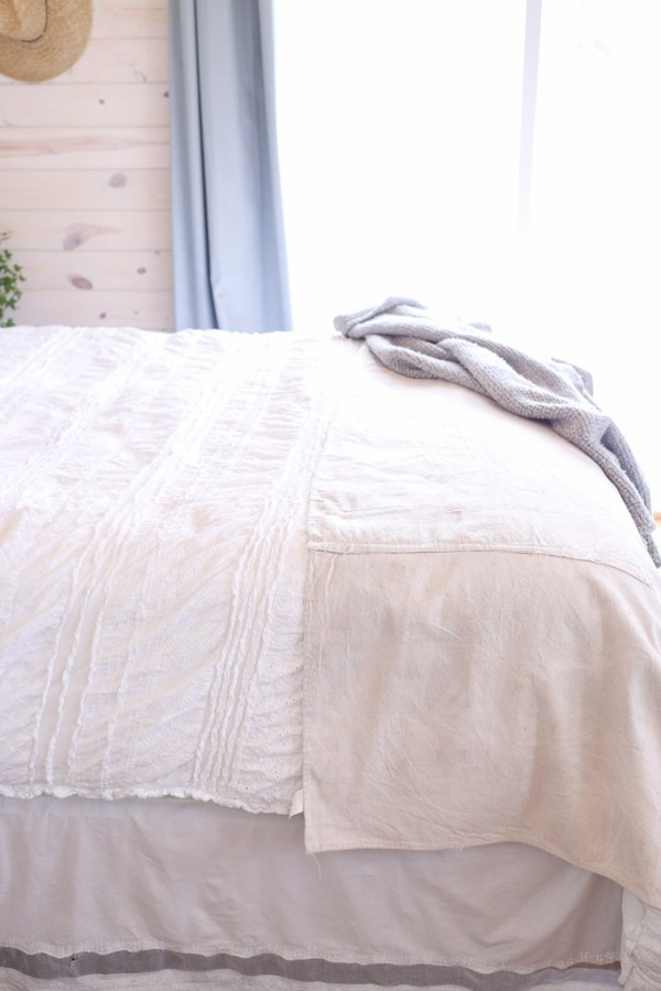 Drop Cloth Coverlett, Farmhouse Bedding| This Mamas Dance