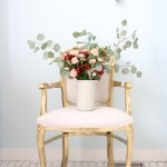Gold French Chair, blush florals | This Mamas Dance-1