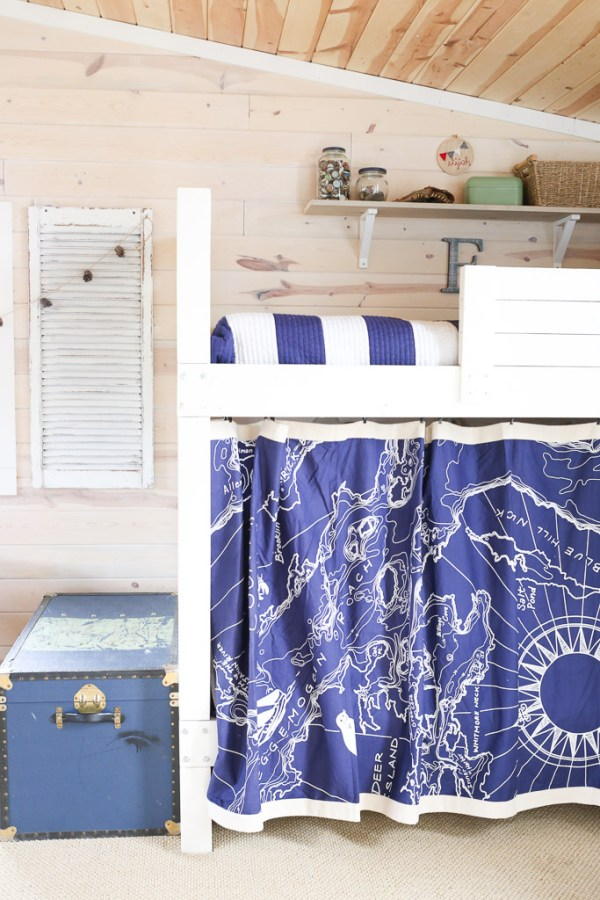 Bunk Bed Curtain Map |This Mamas Dance-1