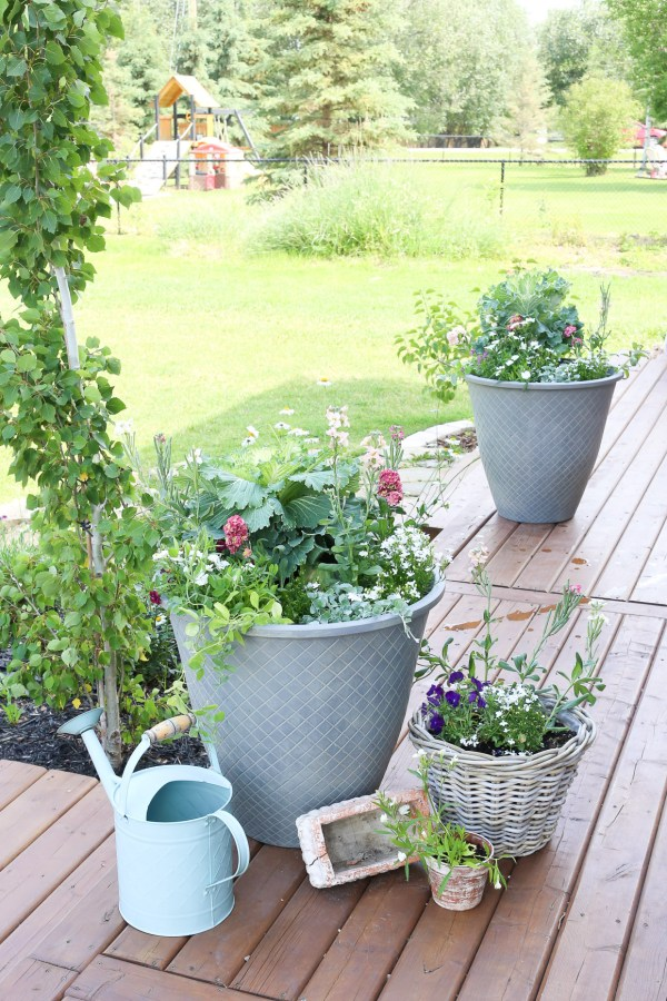 Large Grey Outdoor Pots| This Mamas Dance