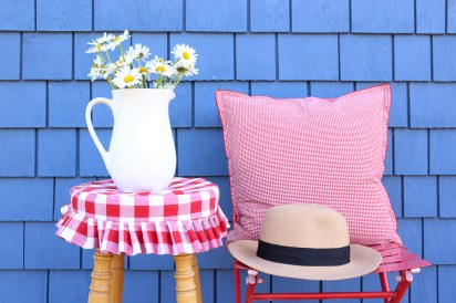 Red and White Gingham Stool Cover| This Mamas Dance-2