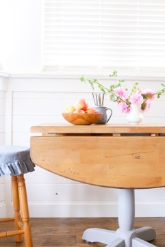 Rustic Farmhouse Style Drop Leaf Pedestal Table |This Mamas Dance-1