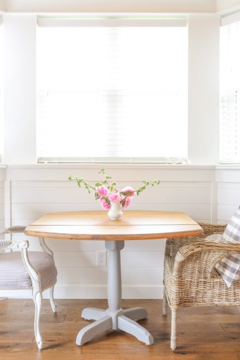 Rustic Farmhouse Style Pedestal Table |This Mamas Dance-1