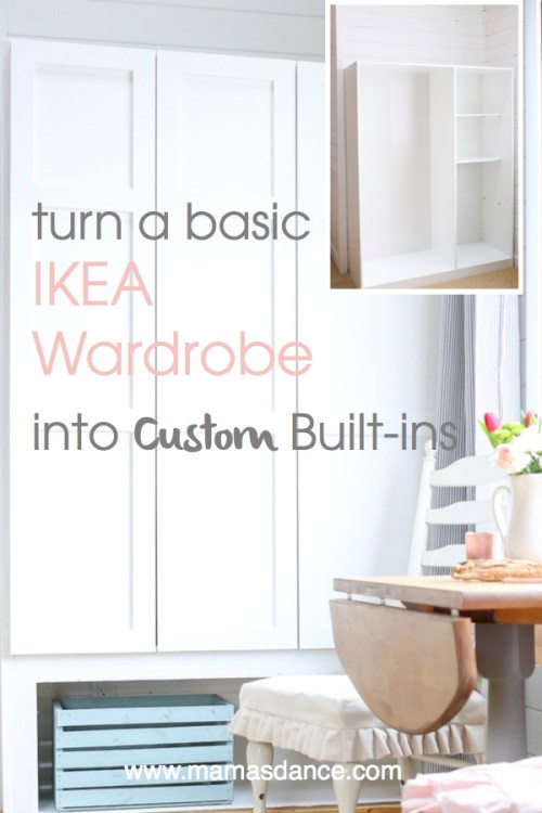 Turn a Basic Ikea Dombas Wardrobe into Custom Built-Ins| via This Mamas Dance