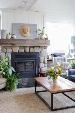 Green and Grey Fall Living Room-16