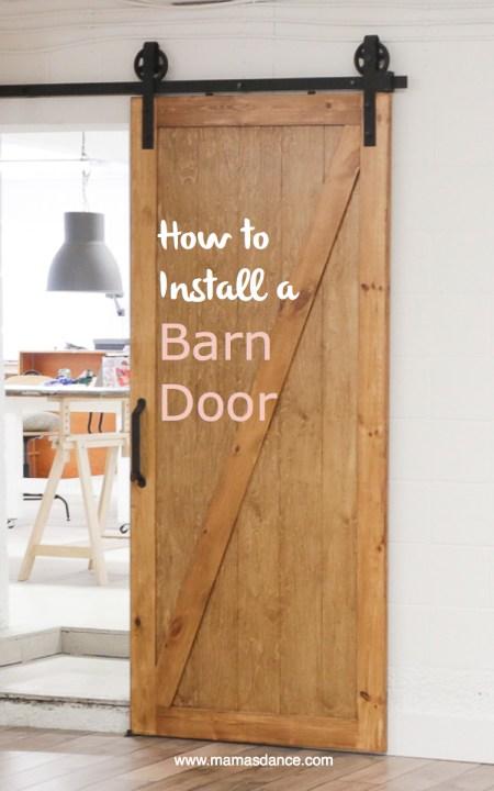 How to Install a Barn Door   via Ashlea of This Mamas Dance Full video tutorial #barndoor #howto #home #industrialstyle #barndoortrack