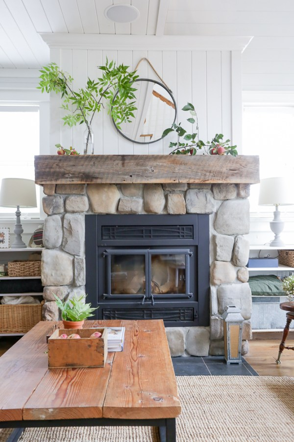 Fall Fireplace | via Ashlea of This Mamas Dance