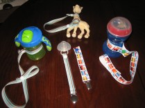 Various toy, cup and soother straps