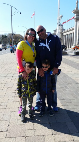 After the race with my family